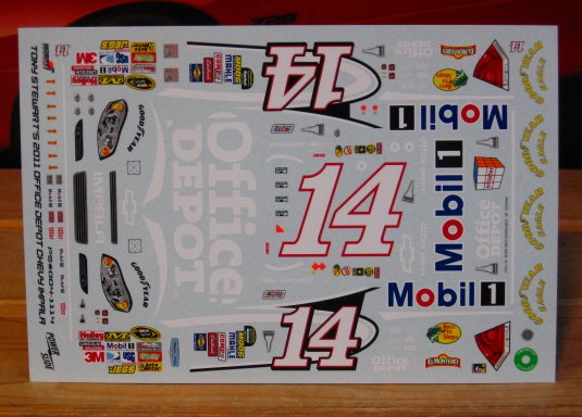 #14 Office Depot Tony Stewart 2011 Impala Powerslide
