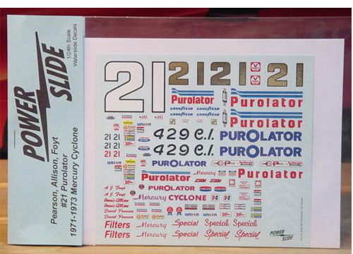 #21 Purolator David Pearson AJ Foyt 1971-73 Cyclone Powerslide