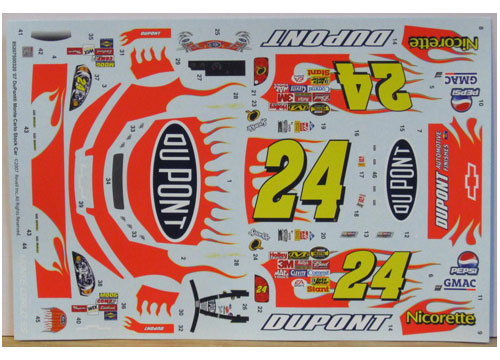 #24 DuPont Jeff Gordon 2007 Revell