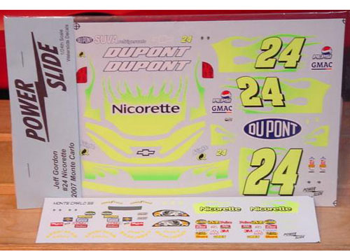 #24 Nicorette Jeff Gordon 2007 Powerslide