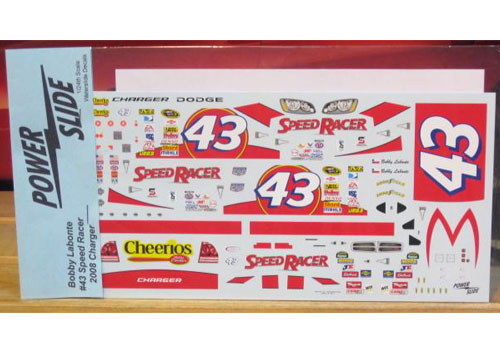 #43 Speed Racer Bobby Labonte 2008 Powerslide