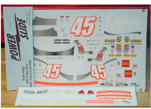 #45 Coke Zero Kyle Petty 2007 Powerslide