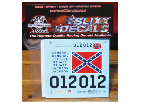 Slixx #8034 General Lee Confederate Flag