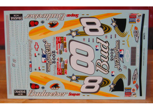 # 8 Budweiser MLB All Star Dale Earnhardt Jr 2002 Wetworks