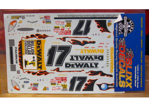 #17 DeWalt Million Dollar Challenge Matt Kenseth 2002 Slixx