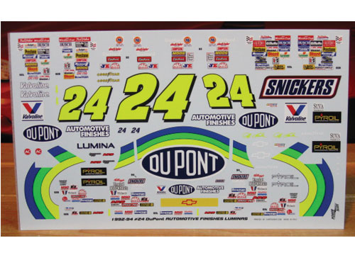 #24 DuPont Jeff Gordon 1992-94 Powerslide