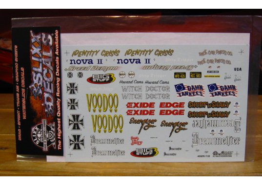 Slixx Quarter Panel Sponsors Sheet K #7133