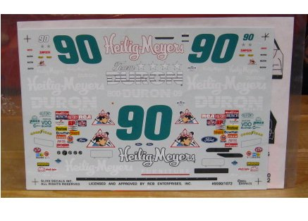 #90 Heilig Meyers Mike Wallace 1995 Slixx