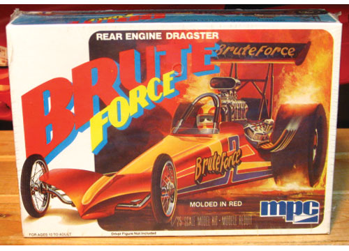MPC Brute Force Rear Engine Dragster Original 1980 Issue Kit Sea