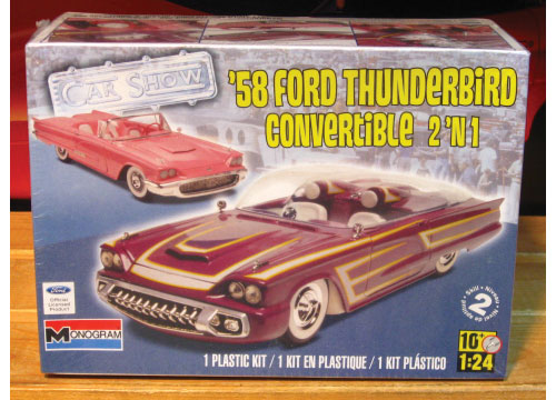 Monogram 1958 Ford Thunderbird Convertible Kit 2011 Issue Sealed