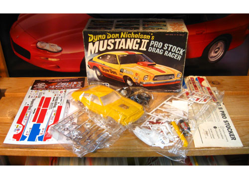 MPC Dyno Don Mustang II Pro Stock Kit Original 1974 Issue