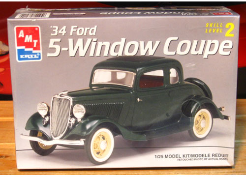AMT '34 Ford 5 Window Coupe Kit Sealed