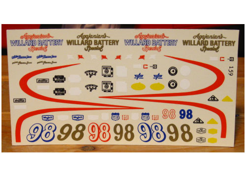 Fred Cady #159 #98 Willard Battery Special AJ Foyt 1963 Indy