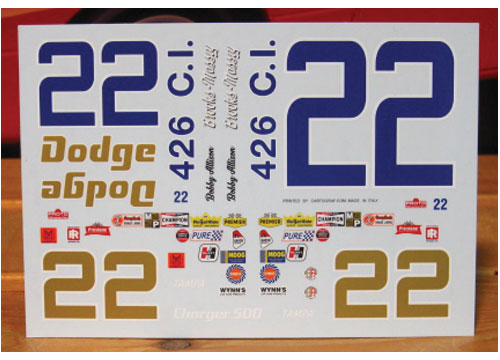 #22 Bobby Allison 1969 Charger Blue Car Powerslide