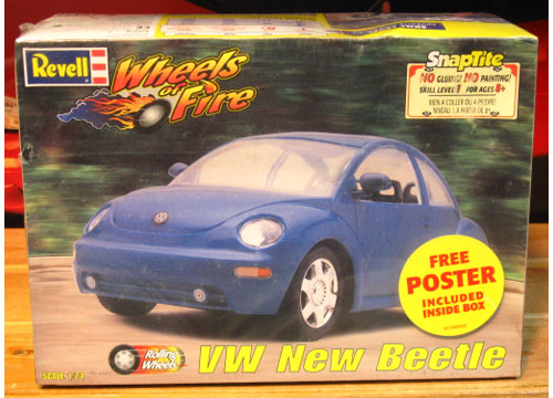 Revell VW New Beetle Wheels of Fire Kit Sealed
