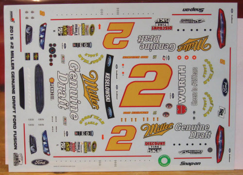 # 2 Miller Genuine Draft Brad Keselowski 2015 ACE