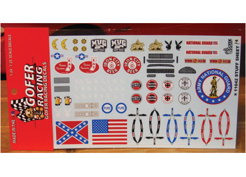 Gofer Decals #11042 Stuff Sheet #4