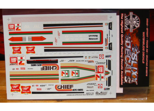 Slixx #7092 Billy Meyer\'s Chief Auto Parts Firebird Funny Car