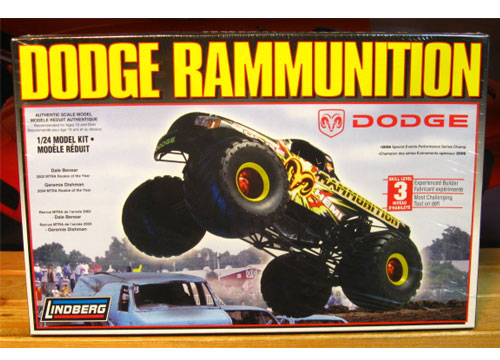 Lindberg Dodge Rammunition Monster Truck Kit Sealed