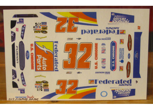 #32 Federated Auto Parts Ken Schrader 2013 Fusion MPR