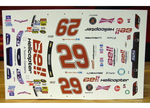 #29 Bell Helicopter Kevin Harvick 2013 Chevy SS MPR