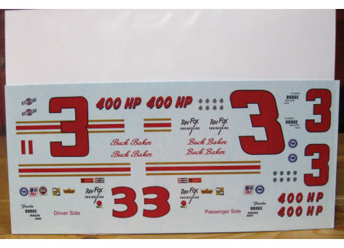 # 3 Buck Baker 1964 Ray Fox Dodge PPP