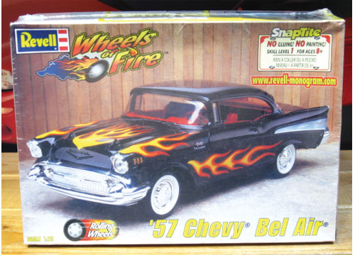 Revell 1957 Chevy Bel Air Wheels of Fire SnapTite Kit Sealed
