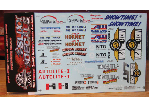 Slixx Quarter Panel Sponsors Sheet M #7206
