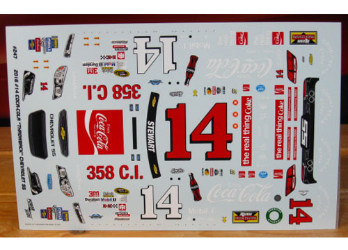 #14 Coca Cola Tony Stewart 2016 Darlington Powerslide #247