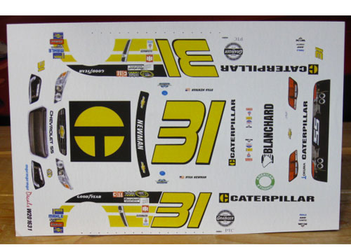 #31 Caterpillar Darlington 2016 Ryan Newman Chevy SS MPR