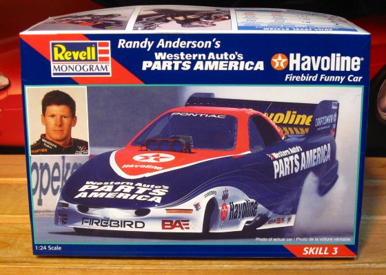 Revell Parts America Firebird Funny Car Randy Anderson 1997 Kit Sealed