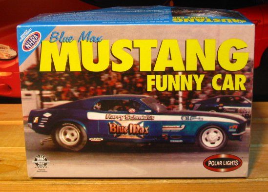 Polar Lights Blue Max Mustang Funny Car