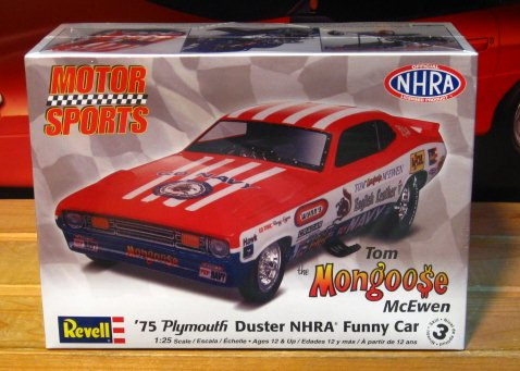 Revell Mongoose \'75 Plymouth Duster Funny Car Kit Complete