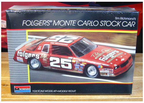 #25 Folgers Tim Richmond Monogram Kit Sealed