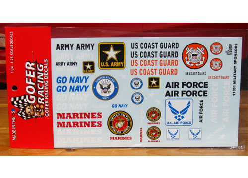 Gofer Decals #11031 Military Sponsors