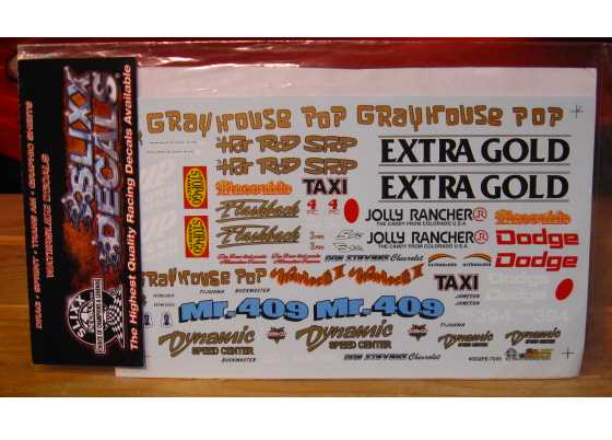 Slixx Quarter Panel Sponsors Sheet E #7035