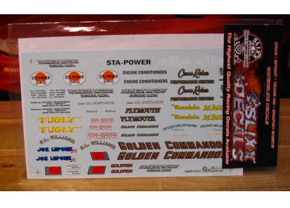 Slixx Quarter Panel Sponsors Sheet H #7074