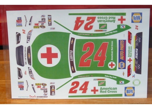#24 Red Cross Chase Elliott 2016 Chevy SS MPR
