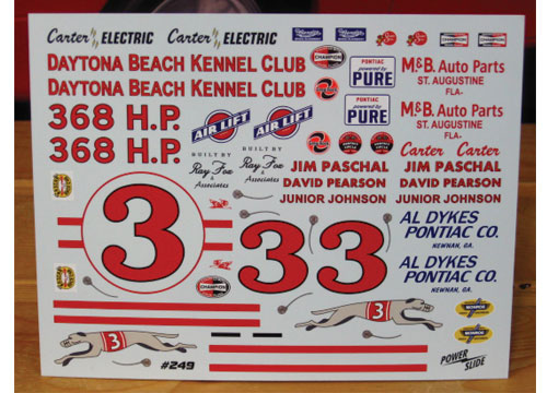 # 3 Daytona Kennel Pearson Johnson 1961 Pontiac Powerslide #249