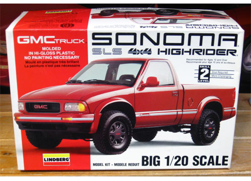Lindberg GMC Sonoma 4WD Pickup Kit 1/20 Scale
