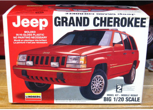 Lindberg Jeep Grand Cherokee Kit 1/20 Scale Complete