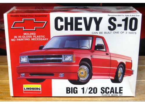 Lindberg Chevy S-10 Pickup Kit 1/20 Scale Sealed