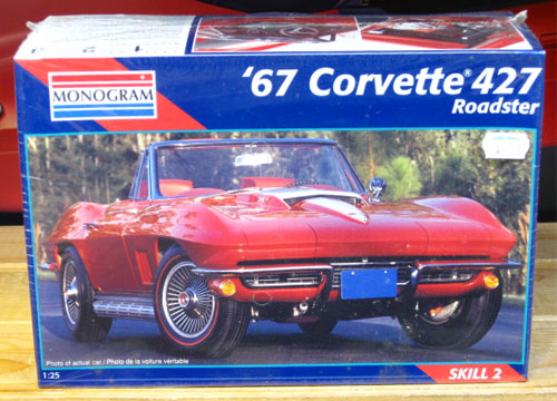 Monogram 1967 Corvette 427 Roadster Kit Sealed