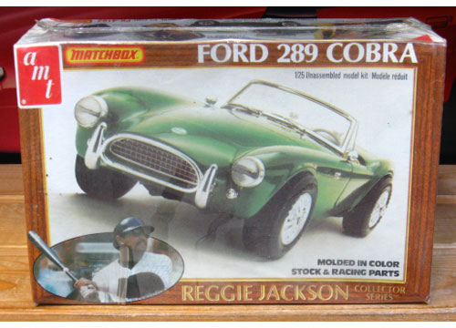 AMT Reggie Jackson Collector Series Ford 289 Cobra 1981 Issue Sealed