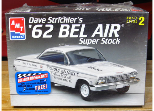 AMT Dave Strickler\'s \'62 Bel Air Super Stock Kit Sealed
