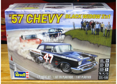 "Revell '57 Chevy Sedan ""Black Widow"" Kit Sealed"