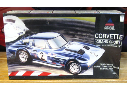 Accurate Miniatures 1964 Corvette Grand Sport Kit Sealed