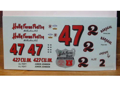 #47 Holly Farms Junior Johnson #2 AJ Foyt PPP