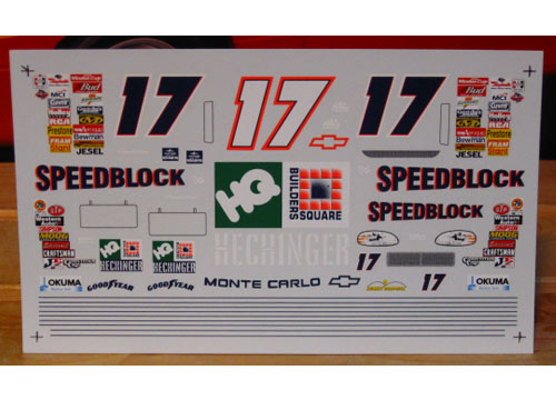 #17 Speedblock Darrell Waltrip 1998 Sunset