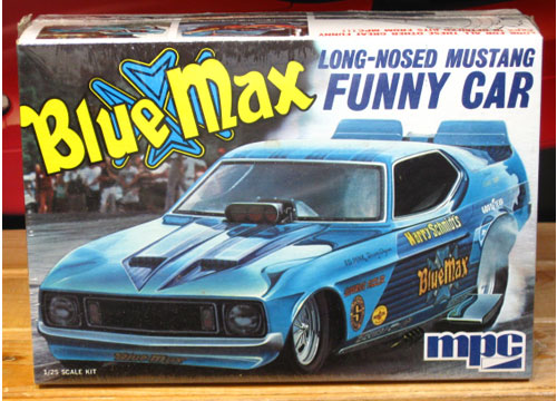 MPC Blue Max Mustang Funny Car Original 1970's Issue Sealed